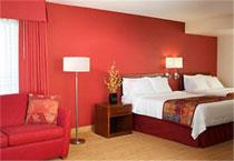 二人部屋のベッド